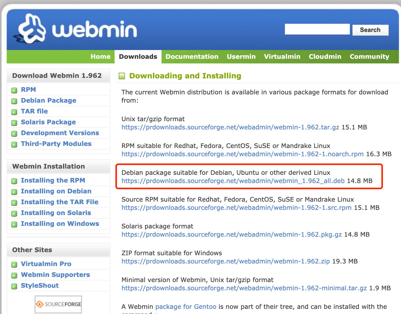 webmin download